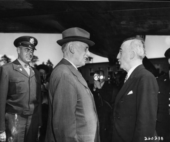 Stimson and Secretary of State James F. Byrnes at Potsdam.