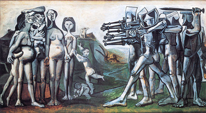 Picasso, Massacre in Korea. In Korea itself, the political support for the