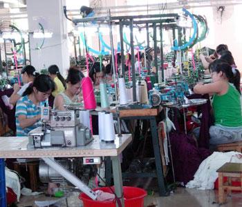 写真:織物工場