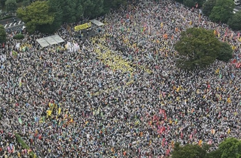 September 11, 2011 anti-nuclear power demonstration in Tokyo