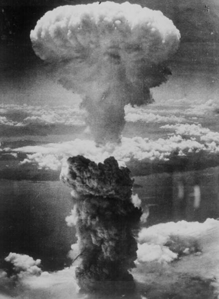 Nagasaki moments after bomb dropped