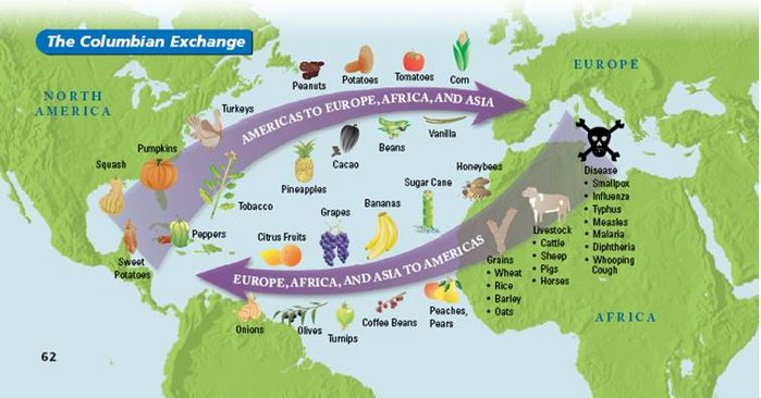 columbian exchange religion The native americans suffered vastly from the columbian exchange and their  death  the conversion of the natives to new religions changed the values and.