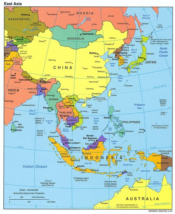 Map Of East Asia And The