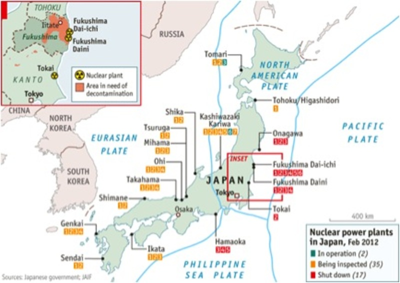 Status of Nuclear Power Plants, Feb 2012
