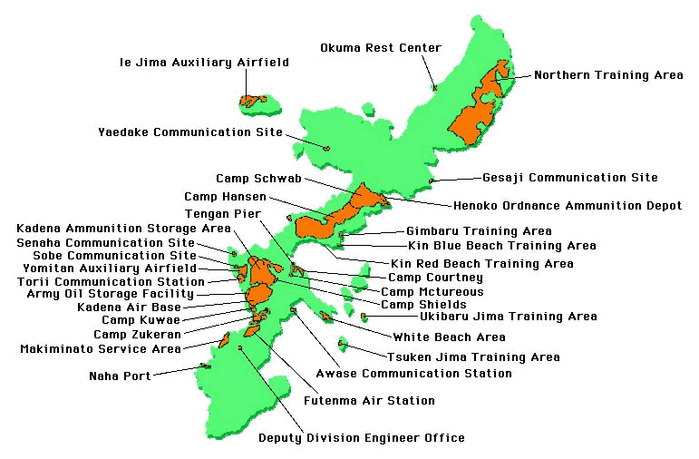 Us Naval Bases In Japan Map - Us naval bases in japan map